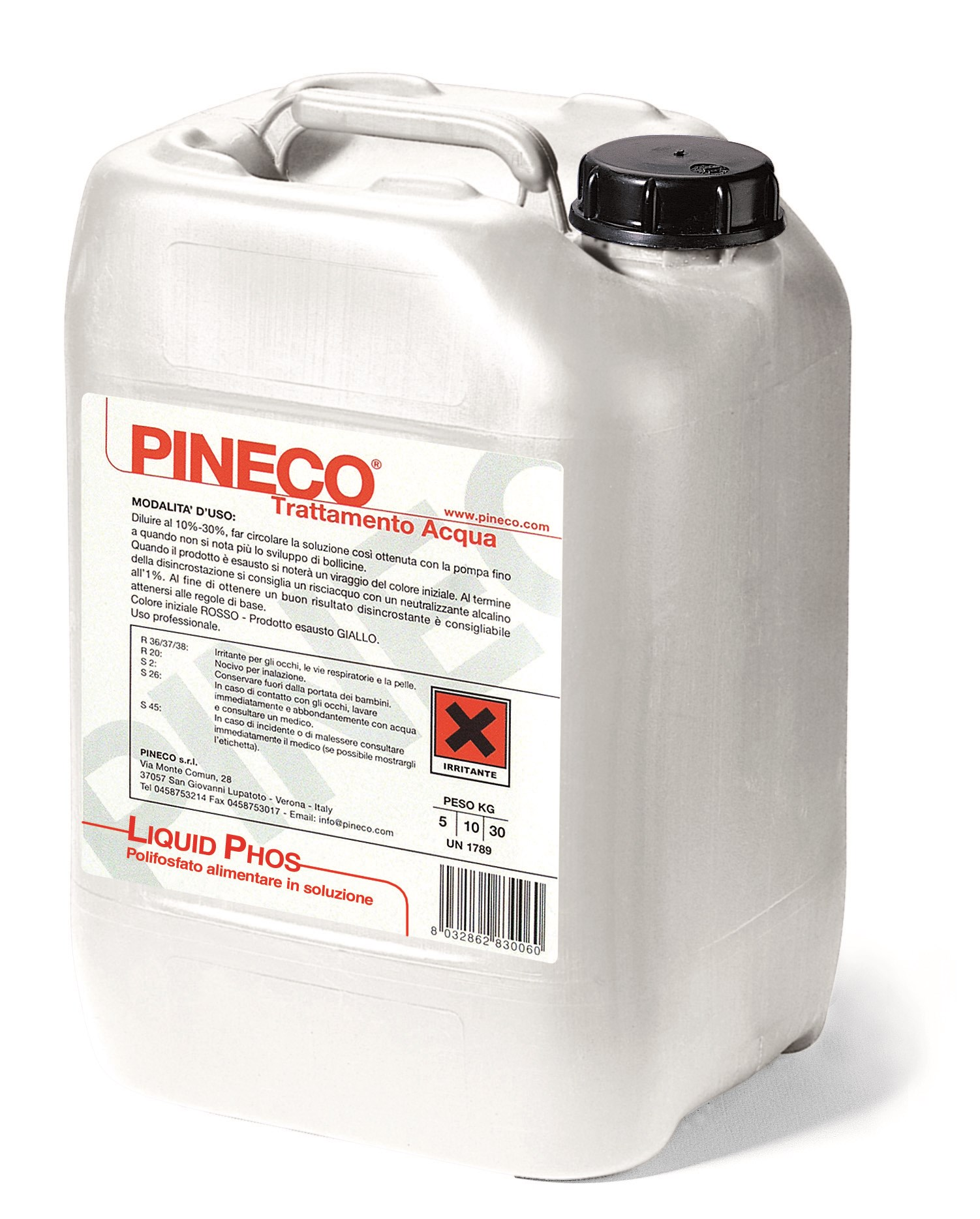 Liquid phos pineco for Pineco trattamento acqua